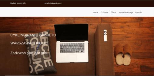 Strona dla firmy cykliniarskiej