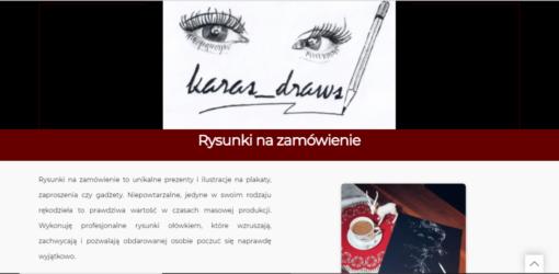 Strona dla artysty - rysownika