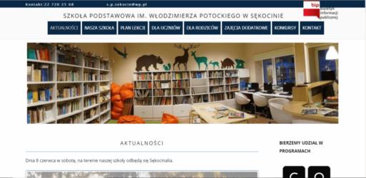 Strona dla Szkoły Podstawowej w Sękocinie